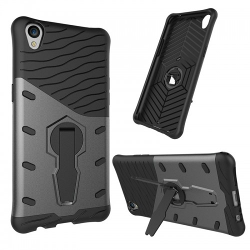 Luxury Armor Hybrid PC TPU Kickstand Hard Fundas Phone Cases For OPPO