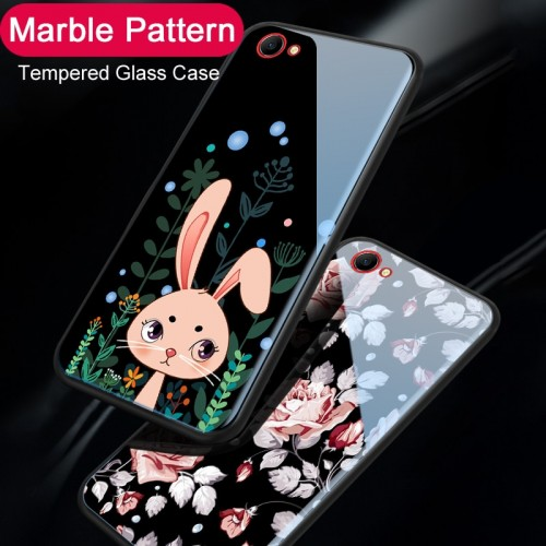 New cartoon Cute Cat Rabbit Tempered Glass Phone Case For OPPO Find X Cases Protective Glass