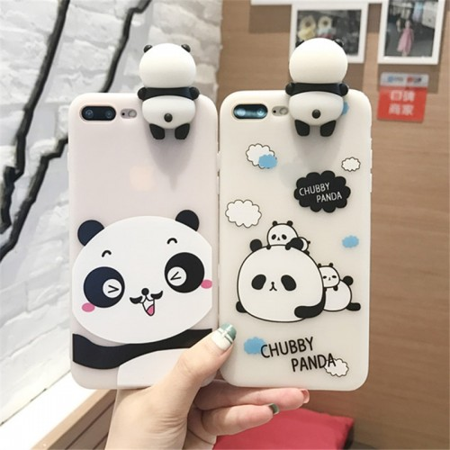 XINGYUANKE 3D Lovely Animal Panda Cute Cartoon Cover For OPPO
