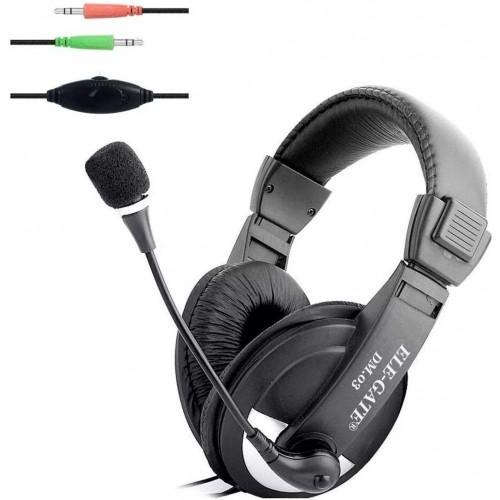 ELE-GATE Stereo Headphones Headset With Microphone and Volume Control