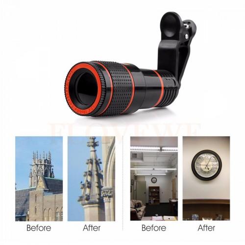 12x Zoom Telephoto Lens Telescope Phone Camera Lenses For iPhone 4S 5 5s SE 6 6s