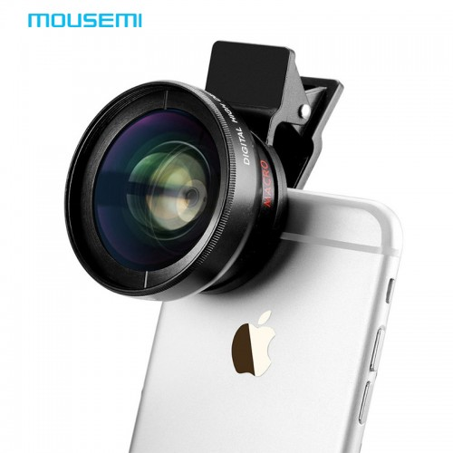 MOUSEMI Macro Mobile Lens 0 45X Super Wide Angle Lenses 37mm Digital High Definition for iphone