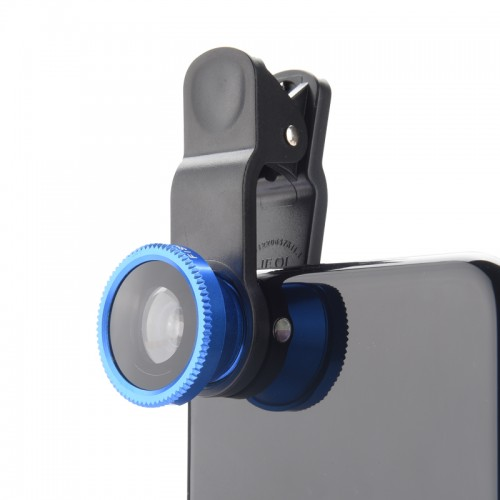 Original 3 in 1 Wide Angle Macro Fisheye Lens Kit with Clip 0 67x Mobile Phone