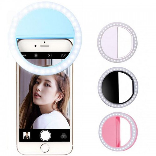 Portable Selfie Ring Flash Led Fill Light Lamp Camera Photography Video Spotlight for iphone 7 6