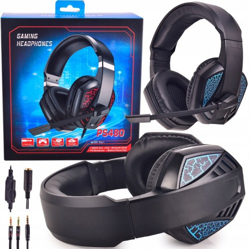 PS480 Classic Gaming Headset With A LED Microphone Volume control