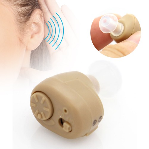 Invisible Ear Hearing Aid Sound Amplifier In-Ear Severe Ear Health Care Battery Operated