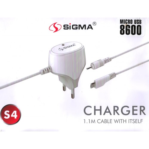 Sigma 2.1A Charger with 1.1M Cable Slim pin Charger