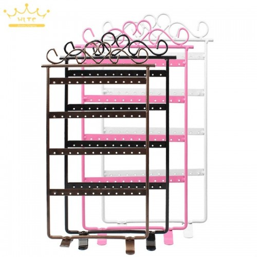 48 Holes Display Rack Metal Stand Holder Closet Jewelry Earrings Organizers Showcase Packaging Display.jfif