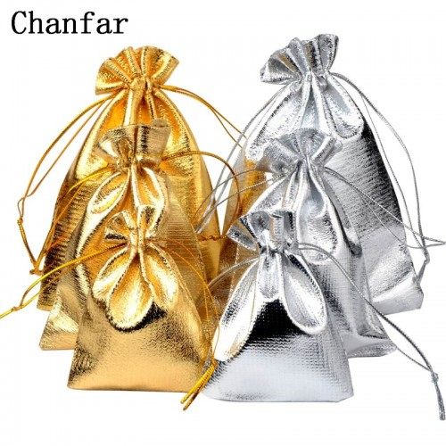 50pcs bag 7x9cm 9x12cm 10x15cm Adjustable Jewelry Packing silver gold colors drawstring Velvet bag Wedding.jfif