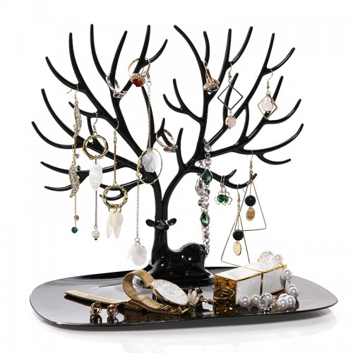 ANFEI Little Deer Earrings Necklace Ring Pendant Bracelet Jewelry Display Stand Tray Tree Storage Racks Organizer