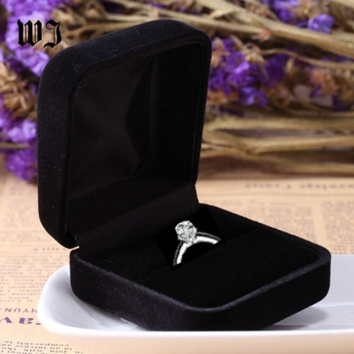Engagement Black Velvet Ring Box Jewelry Display Storage Foldable Case For Wedding Ring Valentine s.jfif