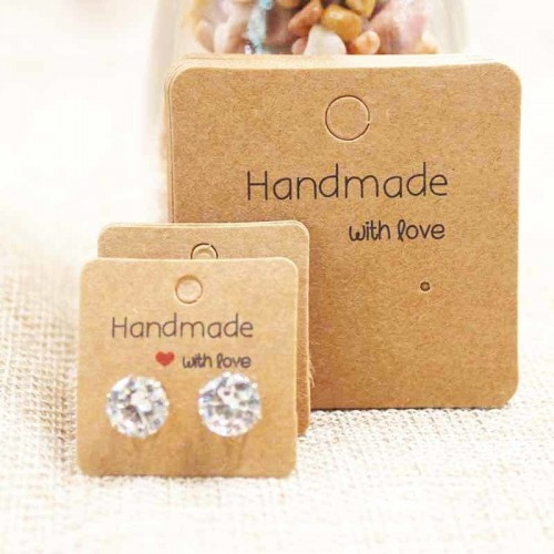 Mulit size DIY handmade jewelry earring packing card cute stud drop earring display card 100pcs per.jfif