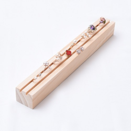 New Fashion Long Solid Wood Ring Earrings Display Tray Jewelry Display Tray Jewelry Display Holder Ring