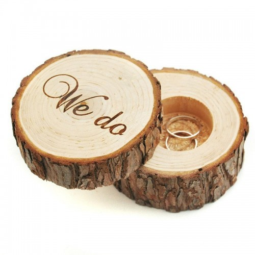 Personalized Rustic Ring Bearer Box Wedding Anniversary Vintage Wood Ring Box Ring Bearer Pillow Engraved Wooden