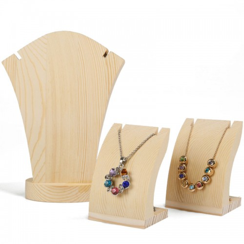 Wood Necklace Display Holder Wood Pendant Display Bust Jewelry Display Bust Jewellery Holder