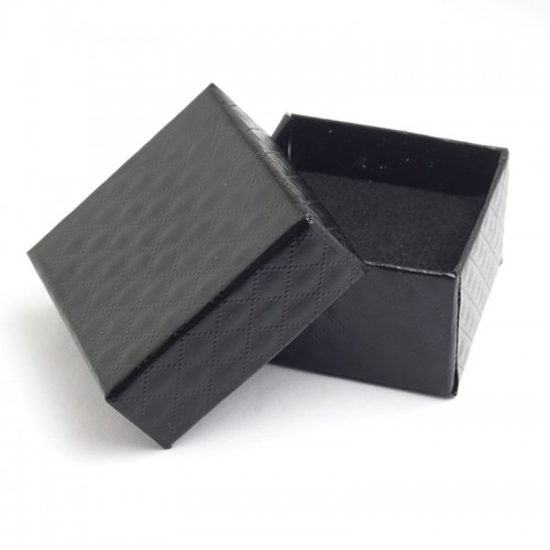 Yunkingdom Square shape jewelry earrings rings boxes black square carton bow case.jfif