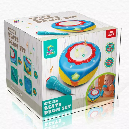 MR. HE Hand Beat Drum 6 Mix Kids Play Toy