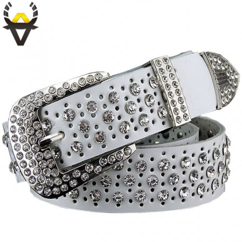 Fashion Rhinestone belts for women Luxury Designer Genuine leather belt woman High quality second layer Cow.jpg 640x640
