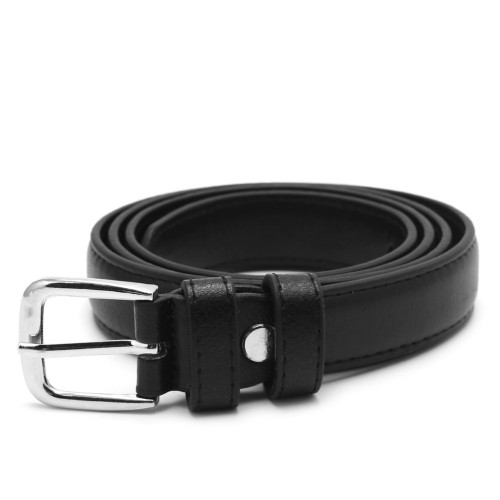 Female Antique Black Belt Metal Buckle Jeans Strap Faux Leather Belt Alloy Buckles Design Casual All