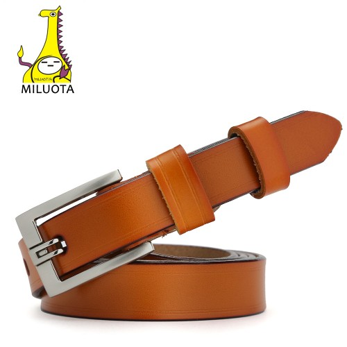 MILUOTA Designer Belts for Women Genuine Leather Fashion Dress belt Woman Vintage cinturones mujer MU032