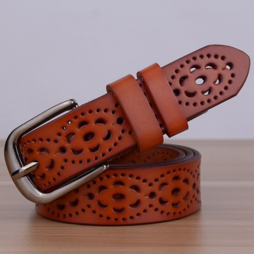 New Arrival Genuine Leather women belt famale cowhide strap leather waistband belts for women luxury lady