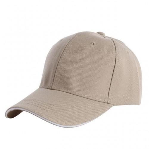 Casual Baseball Caps Solid Color Blank Visor Hat Snapback Cap