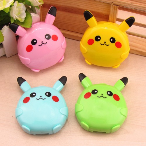 LIUSVENTINA cute Pikachu contact lens case for lenses container box for glasses