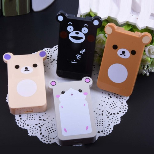 New Fashion Cute Style Mini Panda Shape Contact Lens Case Travel Kit Easy Carry Mirror Container