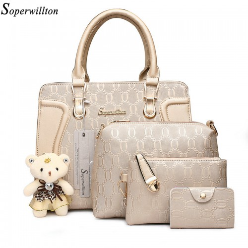 Soperwillton Women Bag Luxury Handbags Shoulder Patchwork Crossbody s Pieces Female