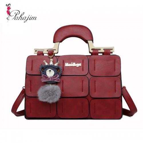 The new spring summer  women bag suture Boston bag inclined shoulder bag women leather handbags