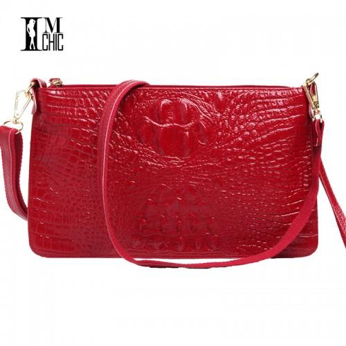 Women Clutch Bags Vintage Split Leather Envelope Shoulder Ladies Small Messenger Handbag Female