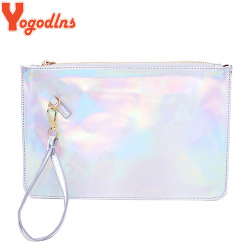 Yogodlns Laser women bags Designer clutch bag Fashion women messenger bags ladies Envelope Clutches