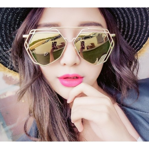 Fashion Women Cat Eye Sunglasses Women Classic Brand Designer Double-Bridge Shades UV400