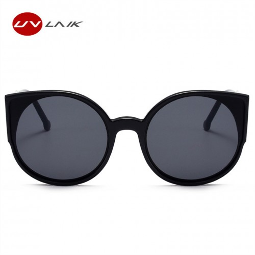 UVLAIK Cat Eye Sunglasses Women Brand Designer Fashion Coating Mirror Cateye Sun Glasses For Female