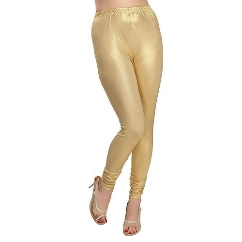 Women Shiny Silver Golden Stretch Leggings