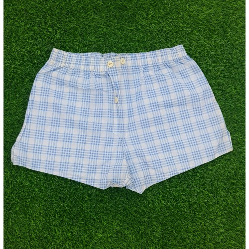 Summer Bottoms Cozy 100% Cotton Plaid Shorts High Quality