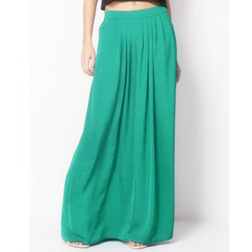 Female Celebrity Style Pastel Candy Colored Long Skirt Pleated Skirt Plus Size For Woman Skirts Color