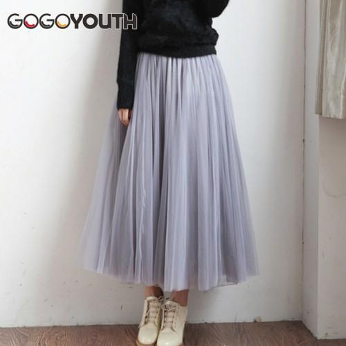 Layers Summer Fashion Long Skirts Womens Plus Size Skirt Tutu Voile