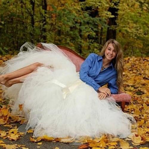 Spring Long Adjustable Skirt Real Photo Tutu Adult Handmade Tulle Fashion Floor Length Wedding