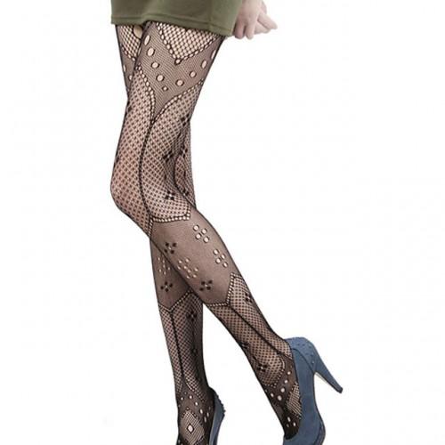 Womens Net Geometrical Fishnet Pantyhose Tights Stockings