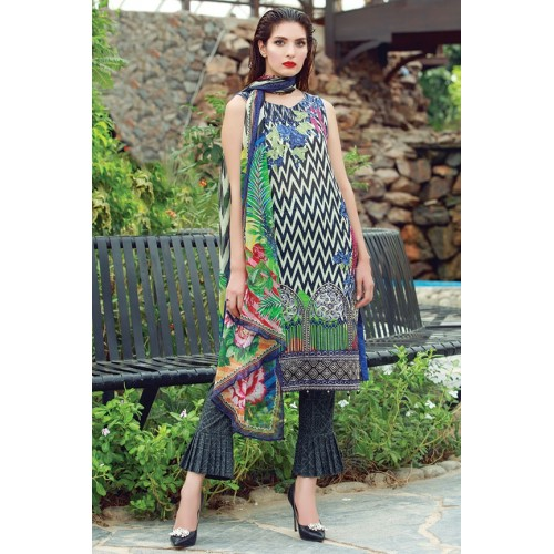 MWU01676 PRINT A DIGITAL PRINTED LAWN UNSTITCHED