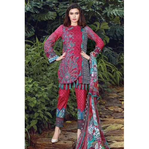 MWU01851 PRINT B DIGITAL PRINTED LAWN UNSTITCHED