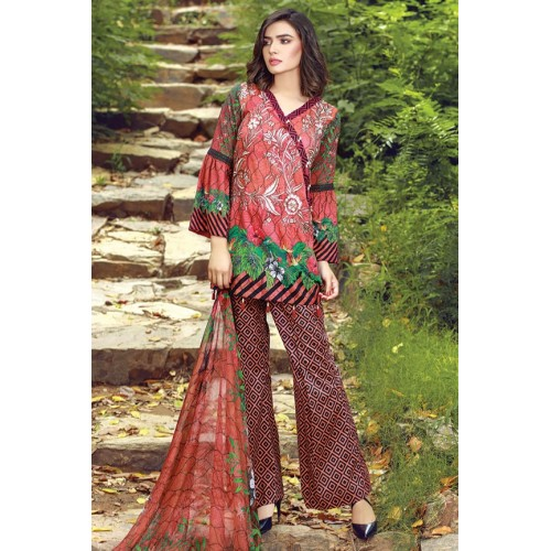 MWU01856 PRINT B DIGITAL PRINTED LAWN UNSTITCHED