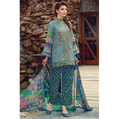 MWU01857 PRINT B DIGITAL PRINTED LAWN UNSTITCHED