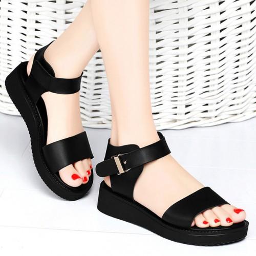 Moda Conciso C modo Sandalias Casuales Trend Correa de Tobillo Del Dedo Del Pie Abierto