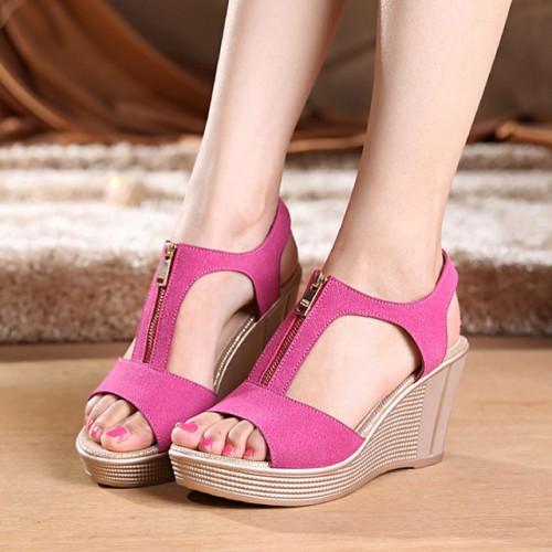 Mujeres Ocasionales de las Sandalias de Las Mujeres Zapatos de Plataforma de Verano Cu as Sandlas