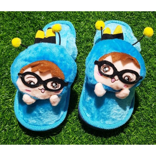 Cartoon Plush Cotton Furry Indoor Warm Home Floor Slippers Fluffy Fuzzy Shoes