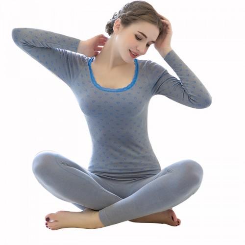 Ladies Thermal Underwears Antibacterial Winter Warm Long Johns Women Body Shaped Underwear