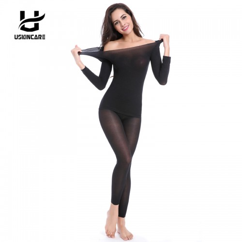 Seamless Winter 37 Degree Women Slimming Thermal Underwear Ultrathin Heat Long Johns Super Elastic Thin Body