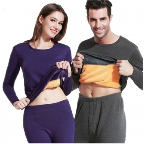 Winter Lover Thermal Underwear For Women Men Layered Clothing Pajamas Thermos Long Johns Velvet Thick Second
